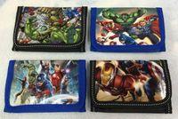 1000pcs Spedizione Gratuita Marvel The Avengers Iron man bambino Borsa della moneta Portafoglio borse w zip nuovo