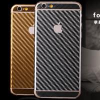 achat en gros de carbon fiber vinyl-Iphone 6 Plus 5 5s 4 4s 5g 4.7 5.5 Cell Phone écran 3D en fibre de carbone vinyle Emballage Film Body Wrap Protecteurs Wrap Films