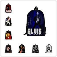 Wholesale Fashion Children Backpacks Printing School Bags for Teenagers Elvis Presley Backpack for Men Elvis Bagpack Students Boys Mochila