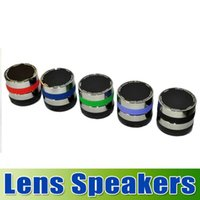Wholesale Factory Price lens speaker Camera Lens Bluetooth Portable Speaker Wireless Music Hi Fi Player Stereo Speakers for iPhone Samsung goodbiz