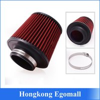 Wholesale Universal car K N Cone Air Intake Air Filter Cleaner quot mm and mm Height Car High Flow Cold