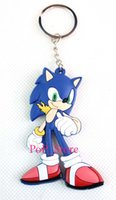 Wholesale New x Cartoon Popular Sonic Keychain PVC Key Chains Gift KC