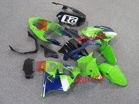 Wholesale NEW really high quality AAA Injection molding Green Blue Fairing Bodywork Plastic For Kawasaki Ninja ZX R