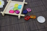 Wholesale Arylic quality square design DIY bead color availabe used for kids making DIY jewerly and paying game