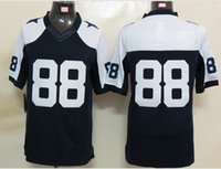 Wholesale New Elite Jerseys Jersey Size Dark Blue White Throwback Color Stitched Mix Match Order American Football JERSEY