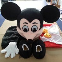 Wholesale New Mickey Mascot Costume Mouse Cartoon Character Suit Adult Size Fancy Dress Christmas Party Clothing Real Images