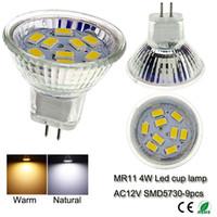 Wholesale led spotlight W MR11 AC DC12V LED Lighting Bulbs SMD LED Warm Cool White LED Bulbs for Living Room