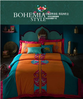 Wholesale Bohemia Boho designer brand bedding comforter bedroom bed sheets sets king for queen size duvet cover bedspread bed in a bag bed