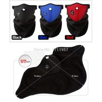 bicyle helmets - Bicyle Cycling Motorcycle Fleece Half Helmet Face Mask Winter Hood Windproof Cap Headwear Thermal for Sports Ski Snowboard