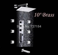 bathtub massage jets - quot Brass Rain Shower Faucet Bathtub Mixer Tap Massage Jets Sprayer Thermostatic