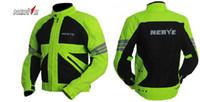 Wholesale NEW Germany NERVE motorcycle jacket Super breathable M mesh fluorescent yellow summer motorbike clothing DROP car clothes coat jacket