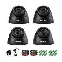 "Cheap ZOSI CCTV Camera Kit 4 pcs HD 700TVL CCTV Cameras 1 3"" 24 IR LEDs Night Vision 65ft Dome Security Surveillance Camera"