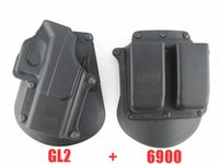Cheap Tactical Evolution gun Holster RH Paddle GL-2 ND For Glock 17 19 22 23 27 31 32 34 35 and 6900RP Double Mag Pouch
