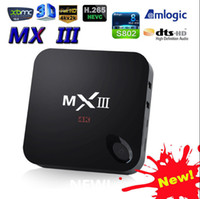 android tv - 2015 MXIII MX3 WiFi XBMC QUAD CORE ANDROID SMART TV BOX Android K Amlogic S802 CS918 Android TV Box
