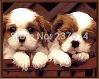 Oil Painting acrylic house numbers - Frameless DIY Digital oil painting cm dog house painting by numbers kits acrylic painting unique Christmas gift home decor