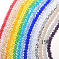 Wholesale New Strings of Each color MM quot Crystal Glass Faceted AB Beads Art Glass DIY Jewelry Making