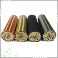 mechanical mod - SMPL Mechanical Mod with thread fit for battery with No top cap simple design SMPL Mod Copper Black SS Brass DHL Free