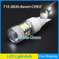 Wholesale New T15 SMD CREE R5 LED Reverse Lights Bulb Super Bright W16W Car Clearance Light Tail Lights