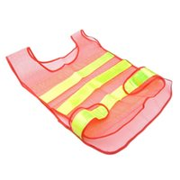 Wholesale reflect light waistcoat high quality PVC brand new orange red color Safety Clothing