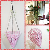 Cheap Cheap Suspension Flowers Basket Artificial Home Garden Hotel Wedding Party Decoration For Flowers Wall Built Up Hanging Basket Whole Sale