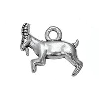 animal capricorn - New Fashion Easy to diy a antique silver Capricorn Goat animals charms jewelry making fit for necklace or bracelet
