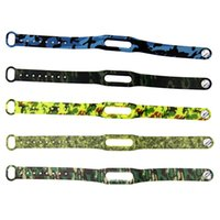 Wholesale 2015 Top Fashion New Style Camouflage Color Replace To Xiaomi Mi Band Strap Belt Silicone Smartband for Miband Bracelet Wearable Devices