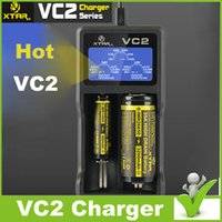 Wholesale 2015 New version XTAR VC2 Charger for battery Chargers dhl shippin