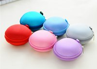 Cheap Colorful Earbud Carrying Storage Bag Pouch Hard Case for Earphone Headphone USB cable Coin etc DHL Free