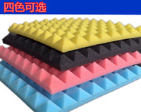 Wholesale 50 mm pyramid sound absorbing cotton eggs cotton insulation cotton studio KTV sound absorbing material sound absorbing cotton