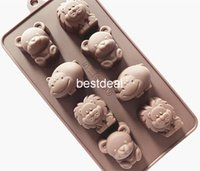 animal cake mould - Silicone Cake Mold Chocolate Mold DIY Handmade soap mold cold even animals ice trays lion ice cube pig ice mould Hippo Lion Cubs