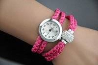 ally - Hot Sale Colorful Rope Bracelet Watch Crystal Beads Women s Dress Watch Ally Case Analog