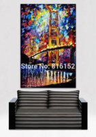 architecture switzerland - Charming Palette Knife Oil Painting USA Switzerland Cities Architecture Art Picture Printed On Canvas For Home Office Wall Decor