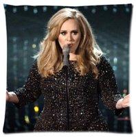 adele single - Custom Singer Adele Adkins Fashion Style Cotton Linen Decorative Suitbale Single Pillow Case Standard Size x18 Twin Sides