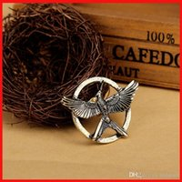 ancient china movies - Movie Jewelry The Hunger Game Bird Mockingjay Brooches ancient bronze gold Pins Couple corsage brooch fashion jewelry