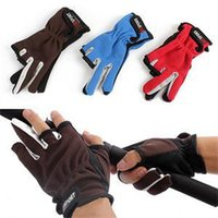 Wholesale 2014 New Top Quality Anti Slip Fishing Gloves Outdoor SportsSlip resistant Fishing Gloves