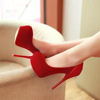 Wholesale 2014 fashion super sexy women thin high heels wedding high heels black platform pump shoes size
