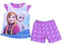 Cheap 2014 Frozen Elsa Anna Girls 3Y-10Y summer pajamas baby girl cartoon pyjamas set pjs sleepwear casual homewear short sleeved suits 6sets lot