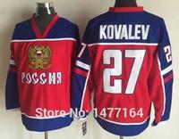 alexei kovalev - Factory Outlet Alexei Kovalev Team Russia Jersey Top Quality Alexei Kovalev Vintage Throwback Stitched Hockey Jersey Shirt Team Russia