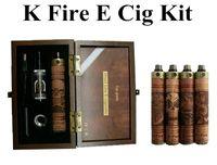 k fire ecig - 2015 new K Fire E cigarettes kit Variable Voltage V V Spinner Battery E Fire Wooden Mod Ecig Kit with VIVI Nova Atomizer