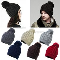 Wholesale 2016 hot selling fashion female cotton warm Autumn Winter Hat Beanie hip jump ring women knitted hat man hat DHL