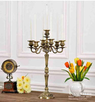 Wholesale European style Large Bronze Arm Candlestick Classical European Heightening Metal Retro Knick Knacks
