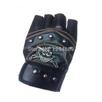 best leather gloves for men - HOT The best half finger PU leather sports gloves with velcro closure for new outdoor mountain bike bicycle racing gloves