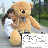 Wholesale 200cm m meter BOYDS Plush Doll Toys Teddy Bears Christmas Teddy Bear Lovers Big Embrace Bear Stuffed Animals Birthday Gift