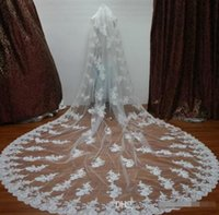 best flower delivery - New Fast Delivery Hot Sale Big Discount One Layer Lace Edge Best Price Bridal Veil Long Veil meters