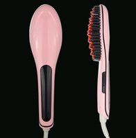 Wholesale Magic Hair Straightener professional comb for hair plastic Electric Straight comb tangle hair brush Iron Brush With LCD Display by DHL