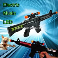 led m16 - Electronic LED Flashing Music Sounding Realistic Cool Military Army Fake M16 Toy Guns For Kids