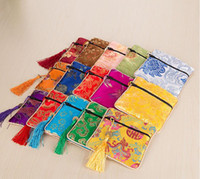 Cheap silk Beads bags chinese style jewelry bags jewelry bags kit bags