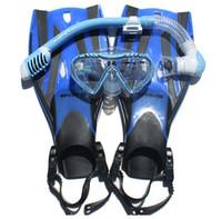 Wholesale Junior Snorkeling Scuba Diving Mask DRY Snorkel Fins Set for Kids