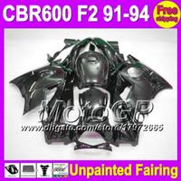 Cheap 7gifts Unpainted Full Fairing Kit For HONDA CBR600F2 91-94 CBR 600F2 CBR600 600 F2 91 92 93 94 1991 1992 1993 1994 Fairings Bodywork Body