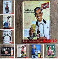 Wholesale cm Metal Tin Sign LADIES AND BEER Retro vintage Classic Tin Bar pub home Wall Decor Retro Tin Poster